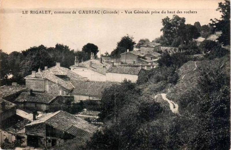 Carte postale ancienne Gauriac - Rigalet - vue générale 2 à