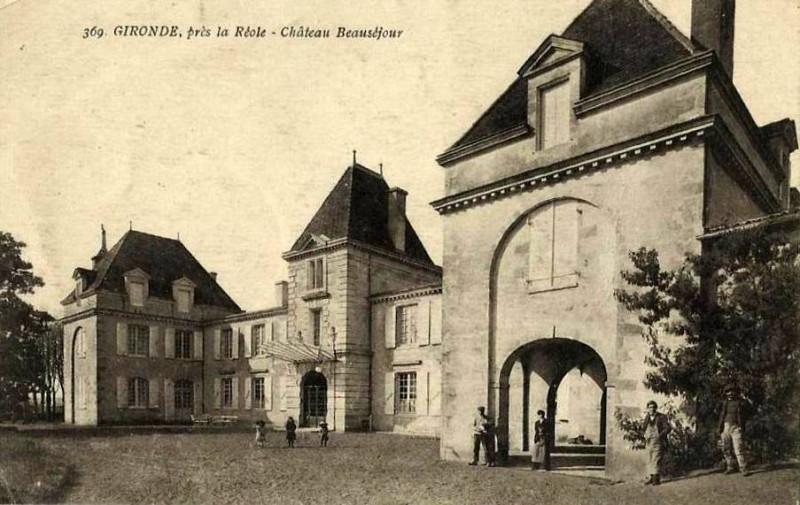 Carte postale ancienne Gironde-sur-Dropt - château Beauséjour 2 à