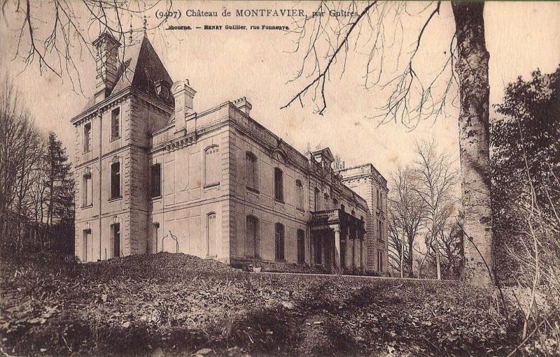 Carte postale ancienne Guîtres - château Montfavier 1 à