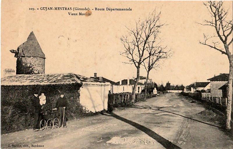Carte postale ancienne Gujan-Mestras - Vieux moulin 1 à