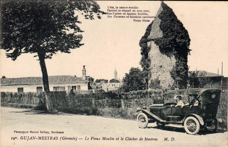 Carte postale ancienne Gujan-Mestras - Vieux moulin 2 à