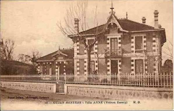 Carte postale ancienne Gujan-Mestras - villa Anne 1 à