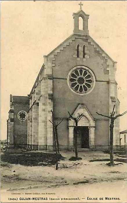 Carte postale ancienne Gujan-Mestras - église 3 à