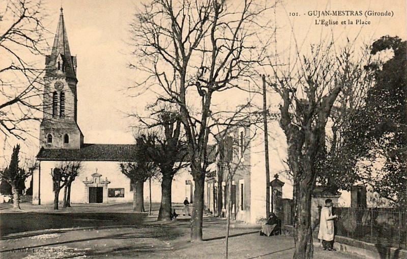 Carte postale ancienne Gujan-Mestras - église 4 à