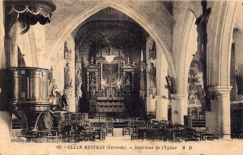 Carte postale ancienne Gujan-Mestras - église 5 à