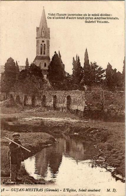 Carte postale ancienne Gujan-Mestras - église 6 à