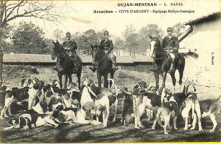 Carte postale ancienne Gujan-Mestras - équioe Rallaye-Gascogne à