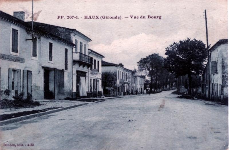 Carte postale ancienne Haux - bourg 1 à