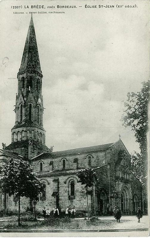 Carte postale ancienne La Brède - église 2 à