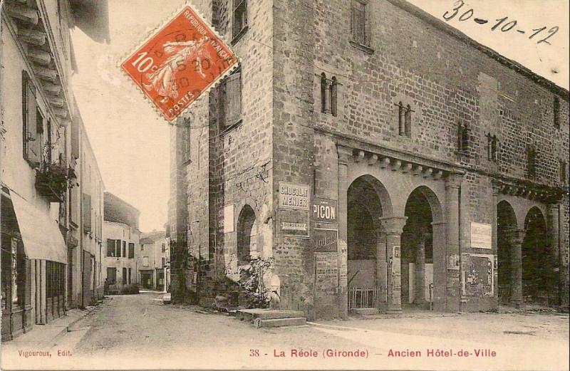 Carte postale ancienne La Réole - ancienne mairie 1 à