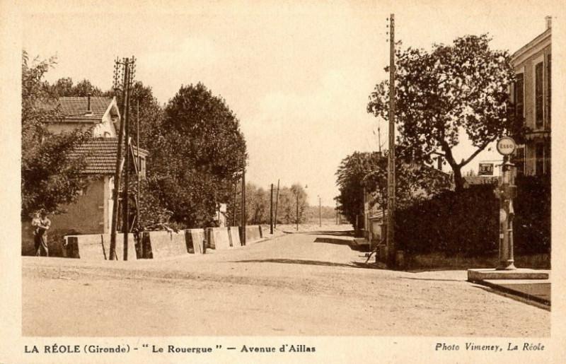 Carte postale ancienne La Réole - avenue d'Aillas à