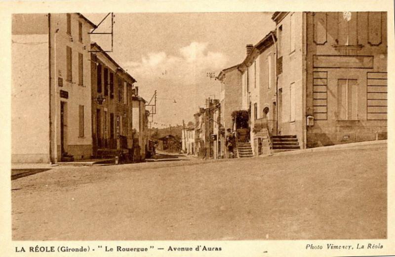 Carte postale ancienne La Réole - avenue d'Auras à
