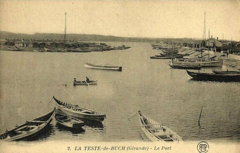 Carte postale ancienne La Teste-de-Buch - le port 16