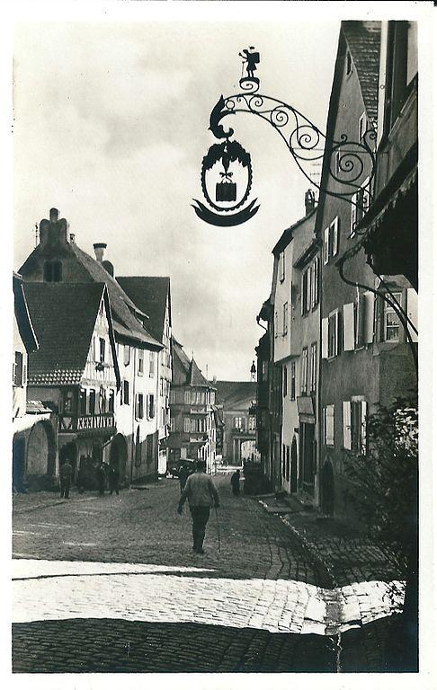 Carte postale ancienne Riquewihr-Fr-68-vers 1935-Grand'rue à Riquewihr
