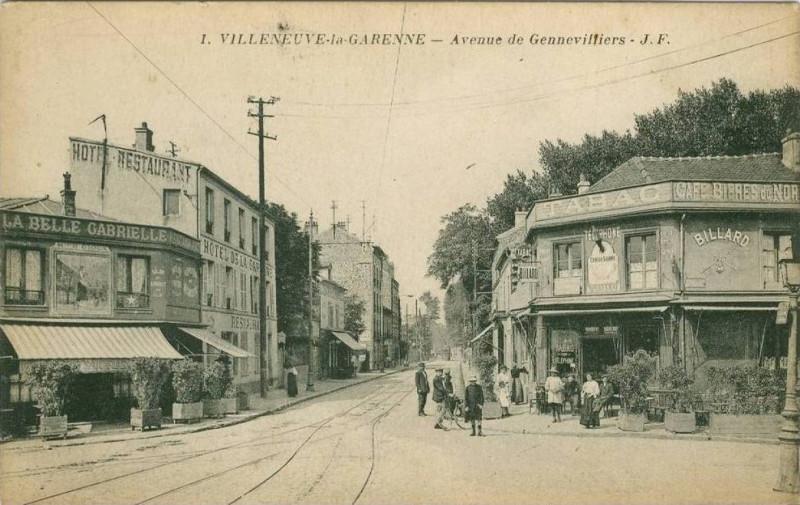 Carte postale ancienne Villeneuve-la-Garenne.Avenue de Gennevilliers.2 à