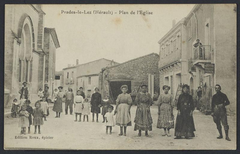 Carte postale ancienne Prades le Lez plan de l'église - Archives départementales de l'Hérault - FRAD034-2FICP-01672-00001 à