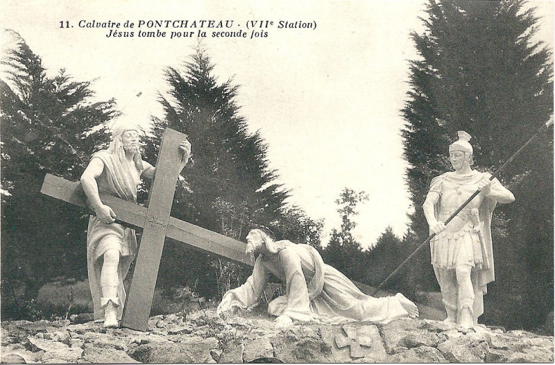 Carte postale ancienne Pontchateau-Fr-44-le calvaire-vers 1920-carte postale-08