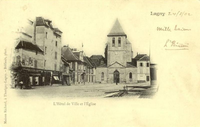 Carte postale ancienne L1774 - Lagny-sur-Marne - Abbatiale Notre-Dame-des-Ardents et Saint-Pierre à