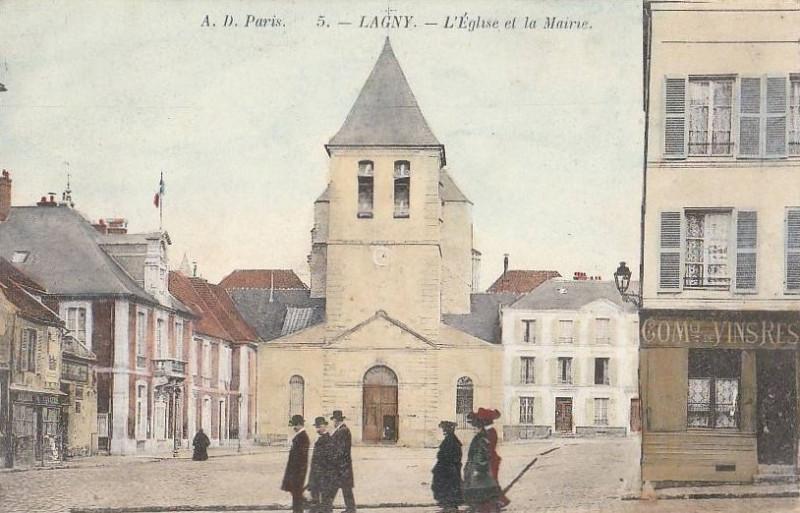 Carte postale ancienne L1775 - Lagny-sur-Marne - Abbatiale Notre-Dame-des-Ardents et Saint-Pierre à