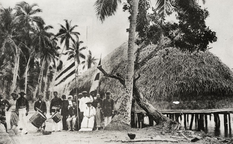 Carte postale ancienne Famille royale de Raiatea en 1895 à