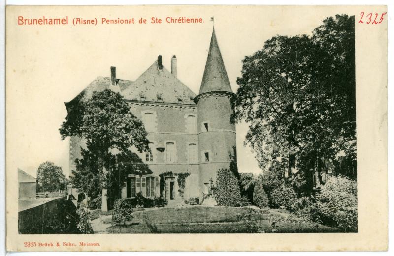 Carte postale ancienne 02325-Brunehamel-1902-Pensionat de St. Chretienne-Brück & Sohn Kunstverlag