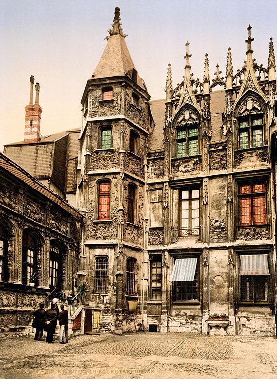 Carte postale ancienne Flickr - …trialsanderrors - Hôtel de Bourgtheroulde, Rouen, Normandy, France, ca. 1897 à Rouen