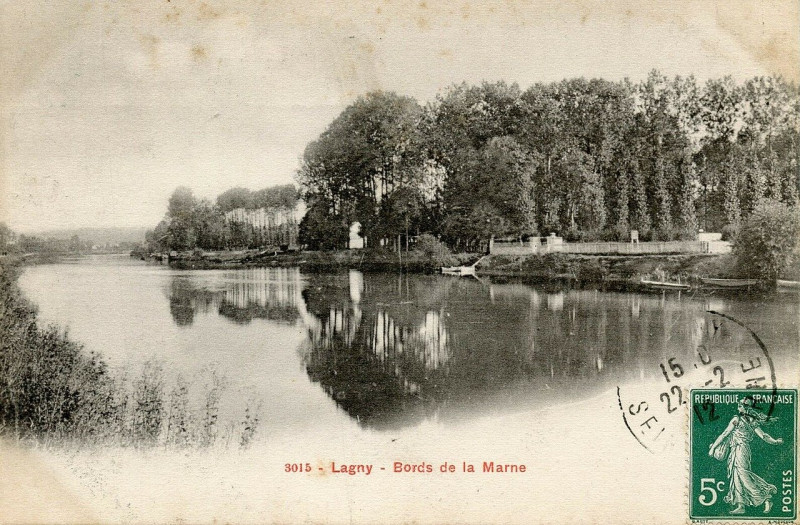 Carte postale ancienne L2398 - Lagny-sur-Marne - Bords de Marne à