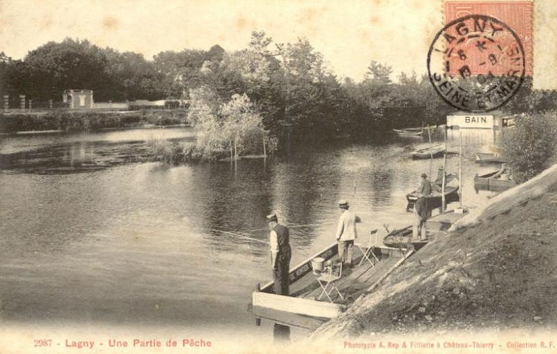 Carte postale ancienne L2434 - Lagny-sur-Marne - Bords de Marne à