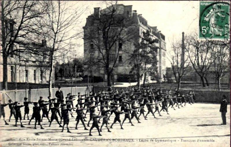 Carte postale ancienne Sainte-Marie Grand Lebrun - 40 - Gymnastique à Bordeaux