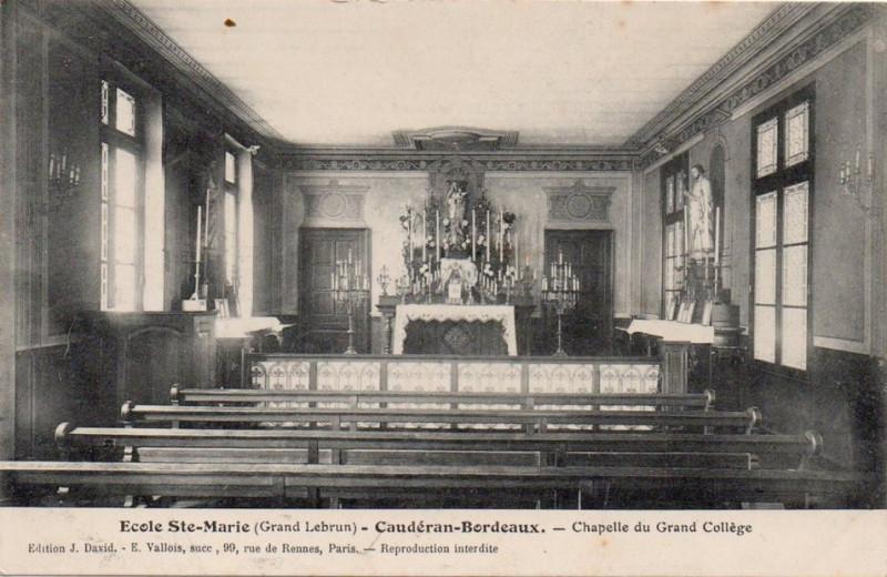 Carte postale ancienne Sainte-Marie Grand Lebrun - 50 - Chapelle du Grand collège à Bordeaux