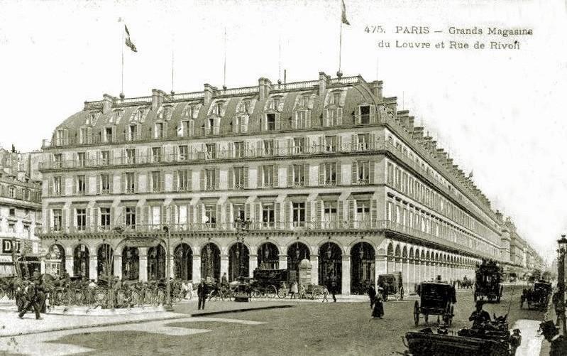 Carte postale ancienne Grands Magasins du Louvre à Paris 1er