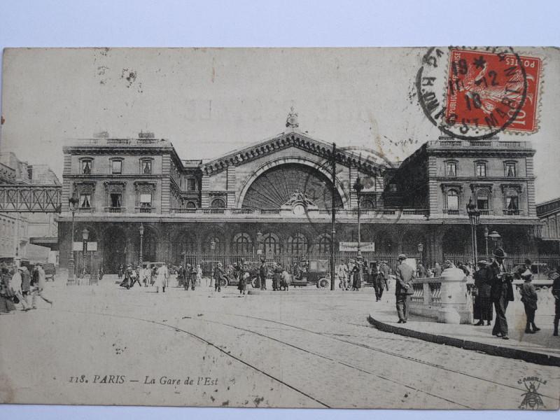 Carte postale ancienne Gare de l'Est (1910) à Paris 10e
