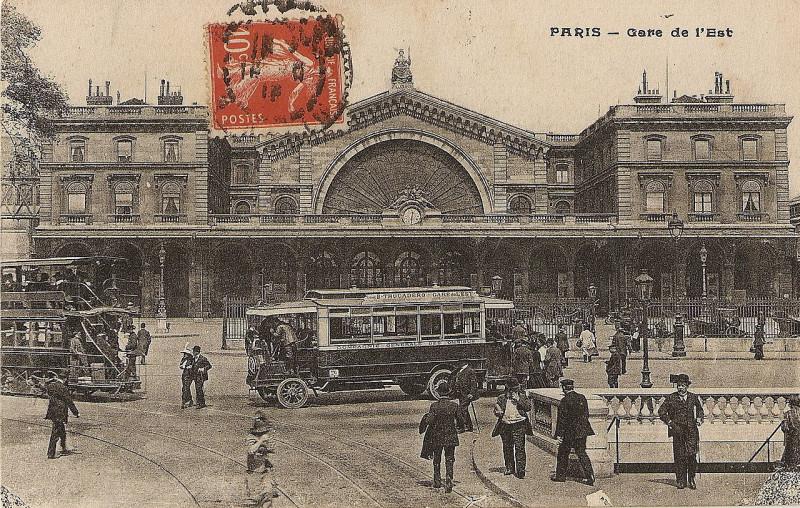Carte postale ancienne Paris - Gare de l'Est à Paris 10e