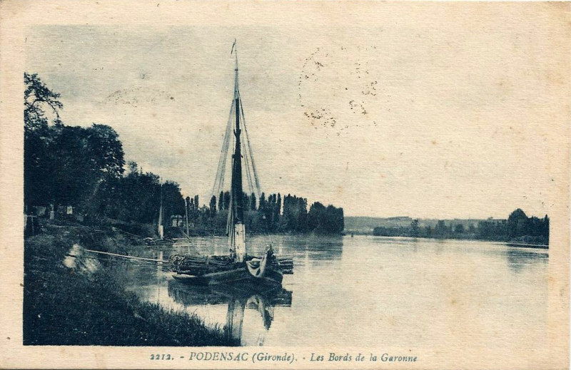 Carte postale ancienne Podensac - Garonne 4 à