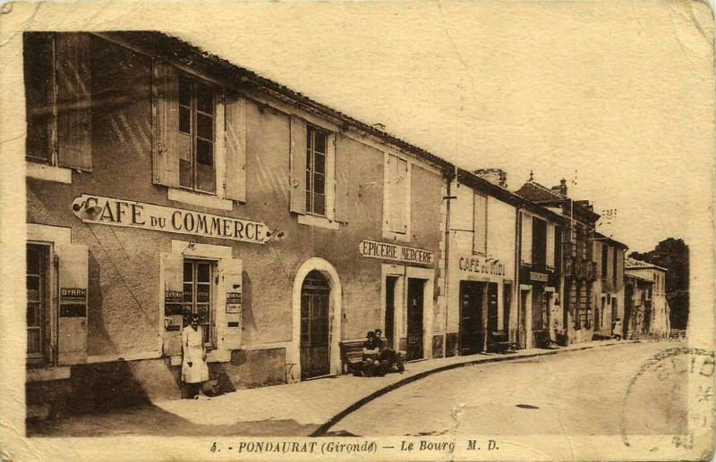 Carte postale ancienne Pondaurat - bourg 1 à