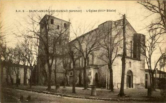 Carte postale ancienne Saint-André-de-Cubzac - église 2