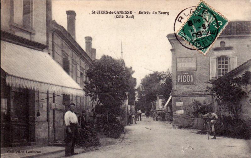 Carte postale ancienne Saint-Ciers-de-Canesse - bourg 3 à