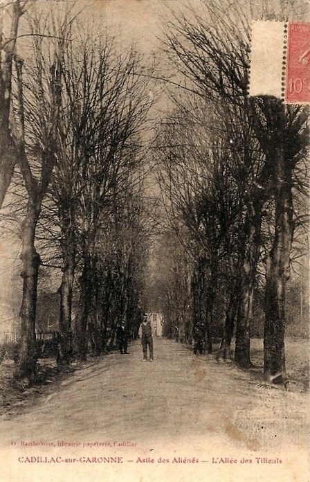 Carte postale ancienne Cadillac-sur-Garonne - Asile des aliénés 15 à