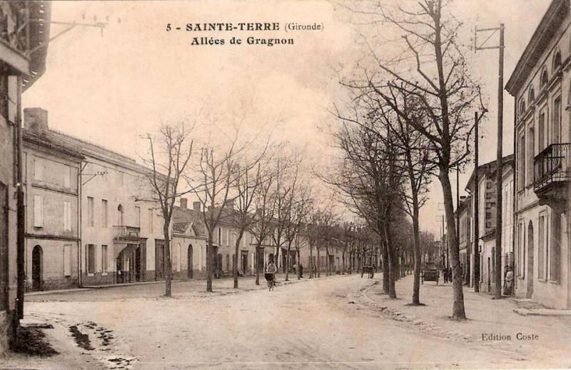 Carte postale ancienne Allées de Gragnon à Sainte-Terre