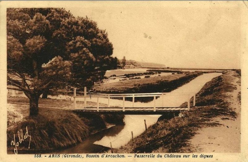 Carte postale ancienne Arès - château Javal 9