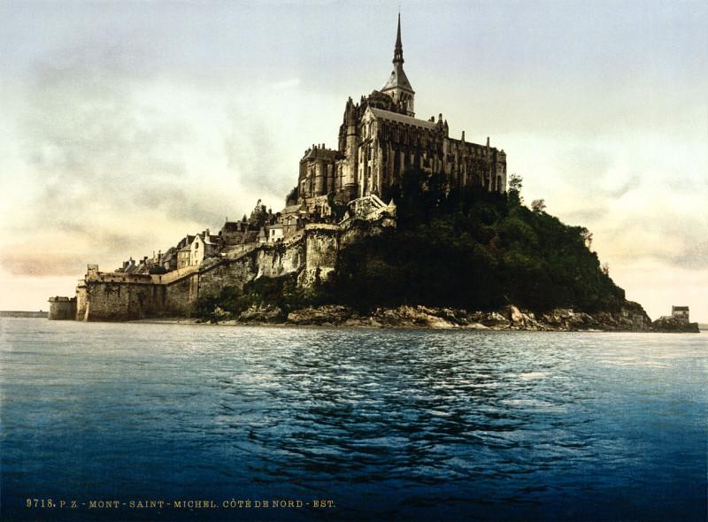 Carte postale ancienne Flickr - …trialsanderrors - North-east face, Mont-Saint-Michel, Normandy, France, ca. 1895 au Mont-Saint-Michel