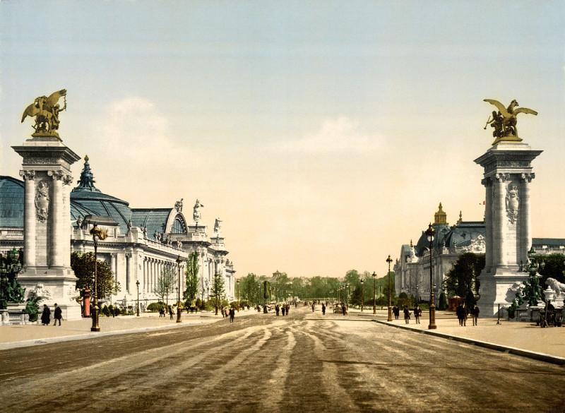Carte postale ancienne Grand Palais and Petit Palais, Exposition Universal, 1900, Paris, France à Paris 8e