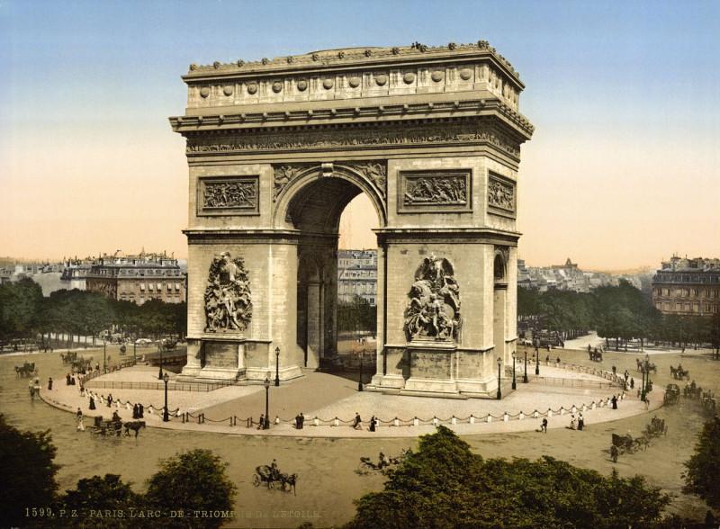 Carte postale ancienne Arc de Triomphe de l'Etoile, Paris, France, ca. 1890-1900 à Paris 16e