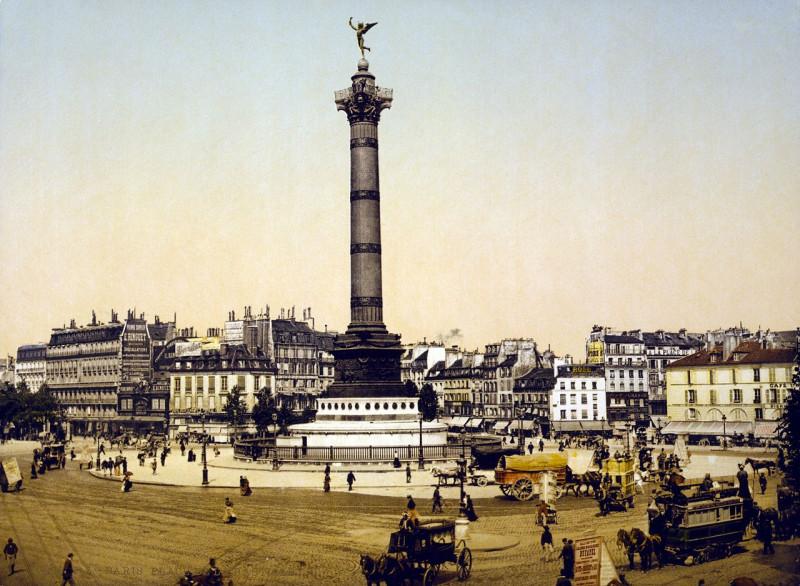 Carte postale ancienne Place de la Bastille, Paris, France, ca. 1890-1900 à