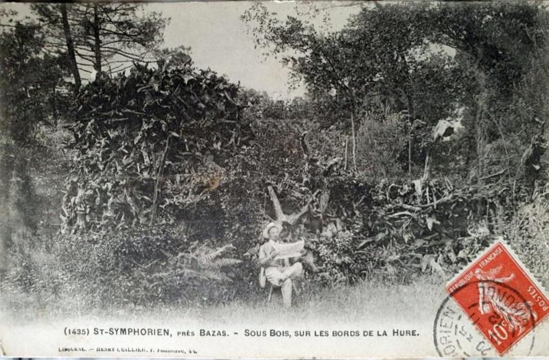 Carte postale ancienne Saint-Symphorien - bords de la Hure 2