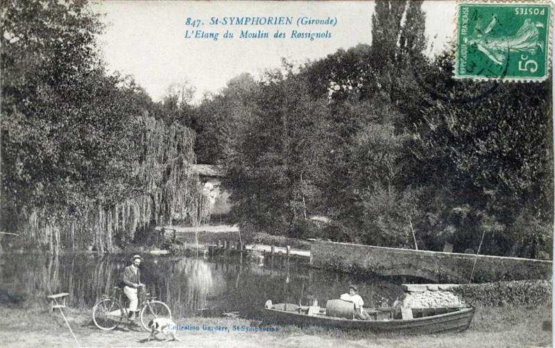 Carte postale ancienne Saint-Symphorien - Etang du moulin des rossignols