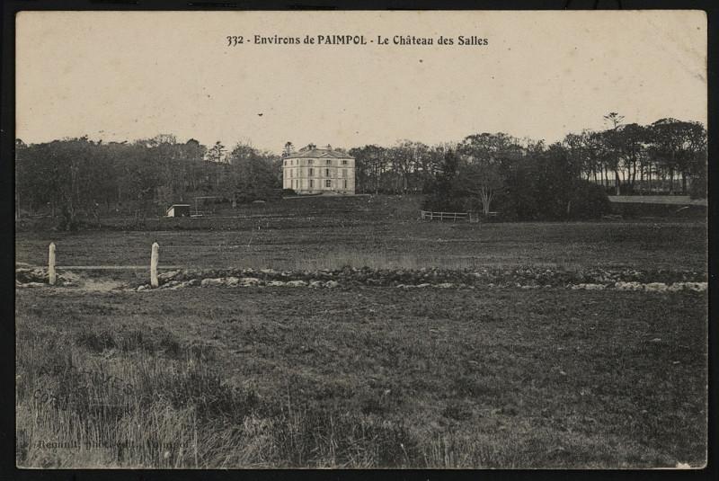 Carte postale ancienne Paimpol - Château des Salles à Paimpol