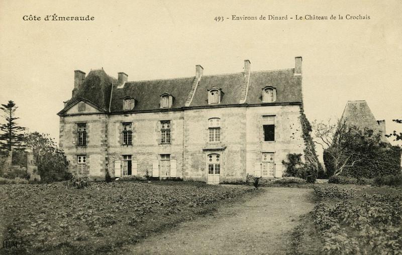 Carte postale ancienne Ploubalay - Château de la Crochais - AD22 - 16FI4031 à Beaussais-sur-Mer