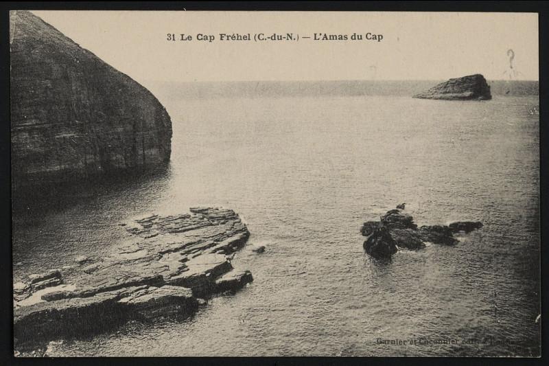 Carte postale ancienne Cap Fréhel - Amas du Cap à Plévenon