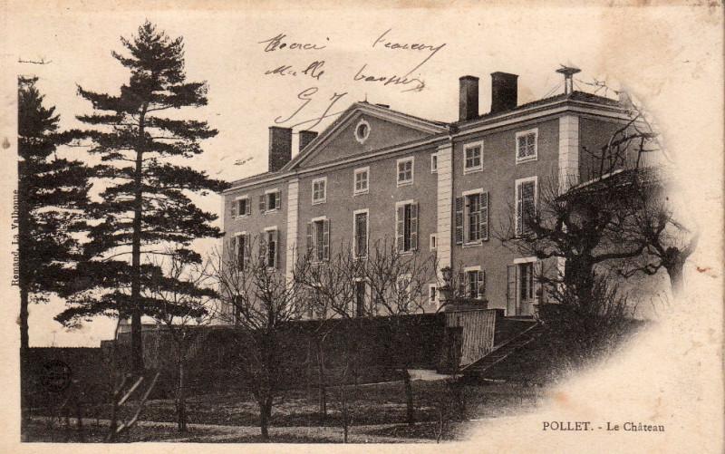 Carte postale ancienne Pollet - le château